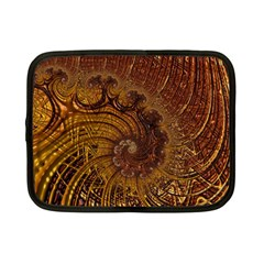 Copper Caramel Swirls Abstract Art Netbook Case (small)  by Sapixe