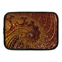 Copper Caramel Swirls Abstract Art Netbook Case (medium)  by Sapixe