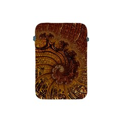Copper Caramel Swirls Abstract Art Apple Ipad Mini Protective Soft Cases by Sapixe