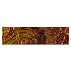 Copper Caramel Swirls Abstract Art Satin Scarf (oblong) by Sapixe