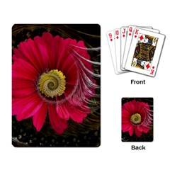 Fantasy Flower Fractal Blossom Playing Card