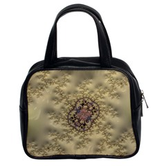 Fractal Art Colorful Pattern Classic Handbags (2 Sides) by Sapixe