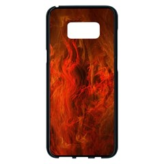 Fractal Abstract Background Physics Samsung Galaxy S8 Plus Black Seamless Case