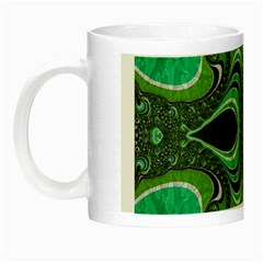 Fractal Art Green Pattern Design Night Luminous Mugs