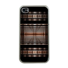Fractal Art Design Geometry Apple Iphone 4 Case (clear)