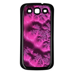 Fractal Artwork Pink Purple Elegant Samsung Galaxy S3 Back Case (black) by Sapixe