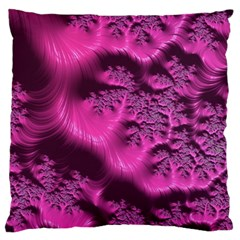 Fractal Artwork Pink Purple Elegant Large Flano Cushion Case (two Sides) by Sapixe