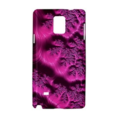Fractal Artwork Pink Purple Elegant Samsung Galaxy Note 4 Hardshell Case by Sapixe