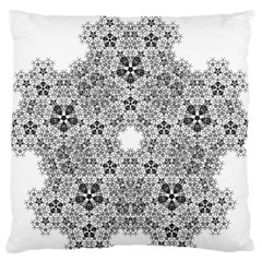 Fractal Background Foreground Large Flano Cushion Case (two Sides) by Sapixe