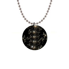 Fractal Math Geometry Backdrop Button Necklaces by Sapixe
