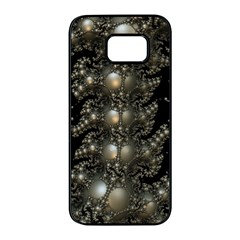 Fractal Math Geometry Backdrop Samsung Galaxy S7 Edge Black Seamless Case