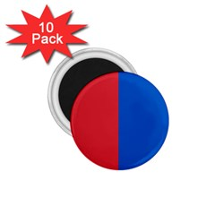 Red And Blue 1 75  Magnets (10 Pack)  by jumpercat