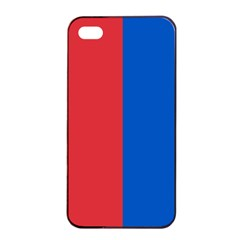 Red And Blue Apple Iphone 4/4s Seamless Case (black) by jumpercat