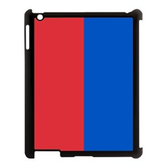 Red And Blue Apple Ipad 3/4 Case (black)