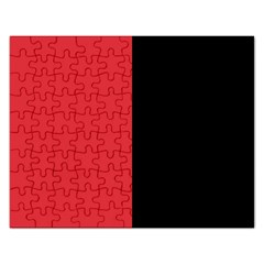 Red And Black Rectangular Jigsaw Puzzl