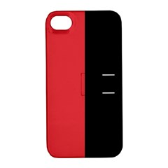 Red And Black Apple Iphone 4/4s Hardshell Case With Stand by jumpercat