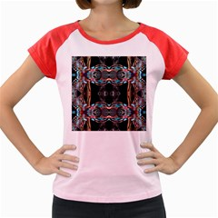 Fractal Math Design Backdrop Women s Cap Sleeve T-shirt by Sapixe