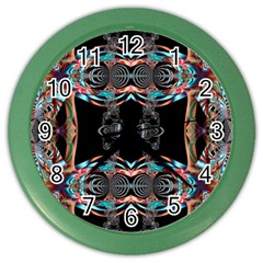 Fractal Math Design Backdrop Color Wall Clocks by Sapixe