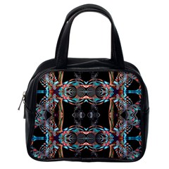 Fractal Math Design Backdrop Classic Handbags (one Side)