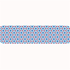Vibrant Red And Blue Triangle Grid Large Bar Mats by jumpercat