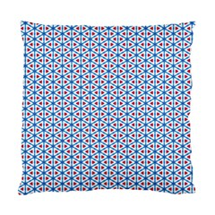 Vibrant Red And Blue Triangle Grid Standard Cushion Case (one Side) by jumpercat