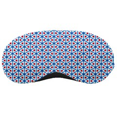 Vibrant Red And Blue Triangle Grid Sleeping Masks