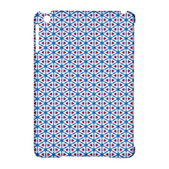 Vibrant Red And Blue Triangle Grid Apple Ipad Mini Hardshell Case (compatible With Smart Cover) by jumpercat