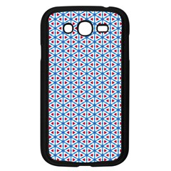 Vibrant Red And Blue Triangle Grid Samsung Galaxy Grand Duos I9082 Case (black) by jumpercat