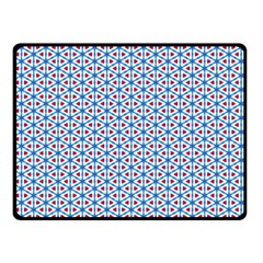 Vibrant Red And Blue Triangle Grid Double Sided Fleece Blanket (small)  by jumpercat