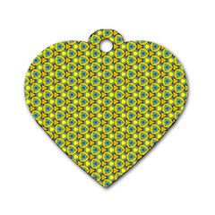 Mechanical Pattern Dog Tag Heart (two Sides)