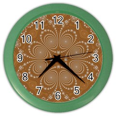 Fractal Pattern Decoration Abstract Color Wall Clocks by Sapixe