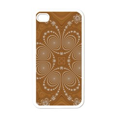 Fractal Pattern Decoration Abstract Apple Iphone 4 Case (white)