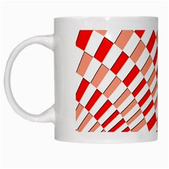 Graphics Pattern Design Abstract White Mugs