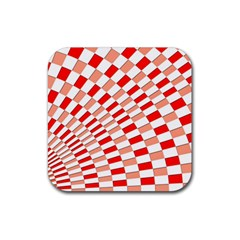 Graphics Pattern Design Abstract Rubber Coaster (square)  by Sapixe