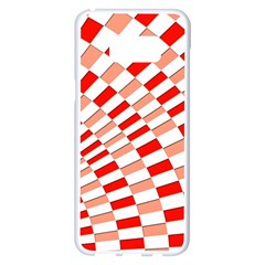 Graphics Pattern Design Abstract Samsung Galaxy S8 Plus White Seamless Case
