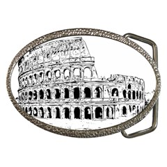 Line Art Architecture Belt Buckles by Sapixe