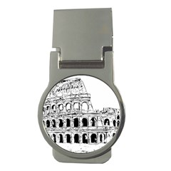 Line Art Architecture Money Clips (round)  by Sapixe