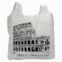 Line Art Architecture Recycle Bag (two Side)