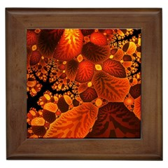 Leaf Autumn Nature Background Framed Tiles by Sapixe