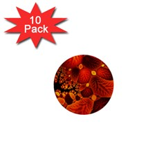 Leaf Autumn Nature Background 1  Mini Buttons (10 Pack)