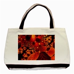 Leaf Autumn Nature Background Basic Tote Bag by Sapixe