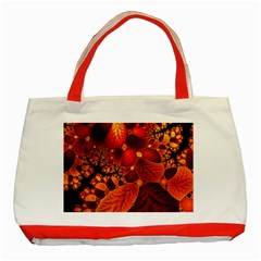 Leaf Autumn Nature Background Classic Tote Bag (red) by Sapixe
