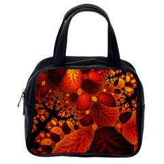 Leaf Autumn Nature Background Classic Handbags (one Side) by Sapixe