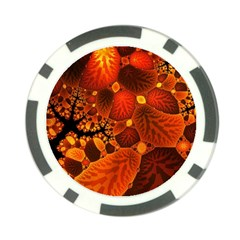 Leaf Autumn Nature Background Poker Chip Card Guard (10 Pack) by Sapixe