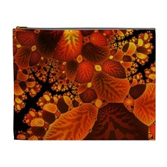 Leaf Autumn Nature Background Cosmetic Bag (xl) by Sapixe
