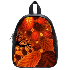 Leaf Autumn Nature Background School Bag (small) by Sapixe