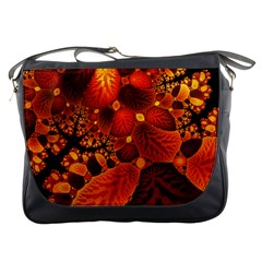 Leaf Autumn Nature Background Messenger Bags by Sapixe