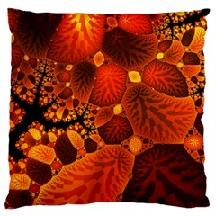 Leaf Autumn Nature Background Large Cushion Case (one Side) by Sapixe