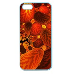 Leaf Autumn Nature Background Apple Seamless Iphone 5 Case (color) by Sapixe