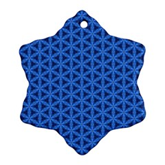 Blue Snake Scales Pattern Snowflake Ornament (two Sides)